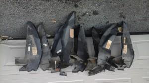 '70-'71   NOS Torino rear fender splash shields