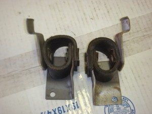 68- 69 Torino tail pipe hangers / new pair