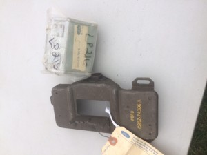 68-71 NOS Console gear shifter plate with NOS insert ashtray