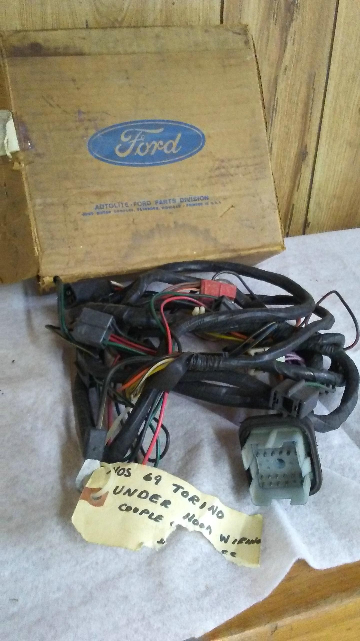 69 nos under the hood wiring harness